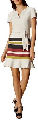 KAREN MILLEN Stripe-Detail Dress $360 thestylecure.com