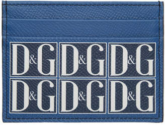Dolce & Gabbana Blue Logo Graphic Card Holder