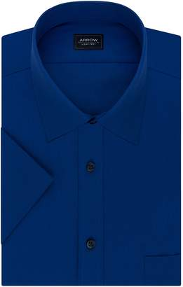 Arrow Big & Tall Regular-Fit Spread-Collar Short-Sleeved Dress Shirt