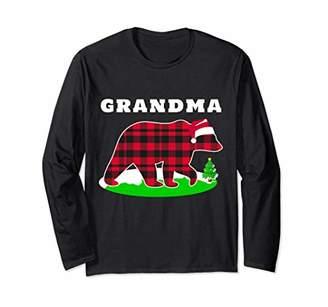 Grandma Bear Xmas Matching Family Pajama Plaid Long Sleeve