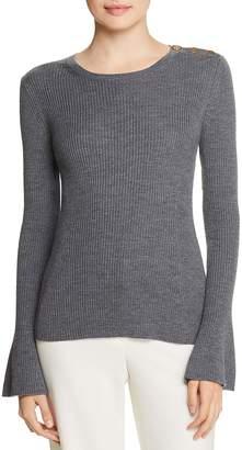 Tory Burch Liv Ribbed Merino Wool Sweater