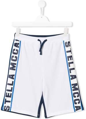 Stella McCartney logo track shorts