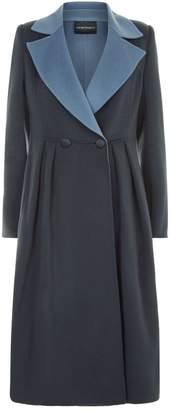 Emporio Armani Double Breasted Wool Coat