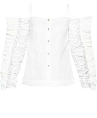Anna October Camisol Strap Ruffle Sleeve Shirt