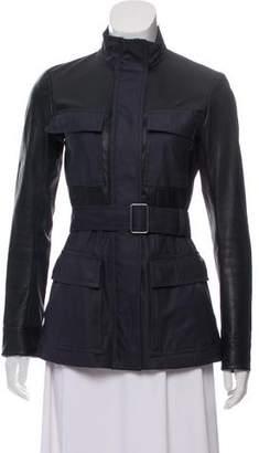 Theory Leather-Paneled Utility Jacket