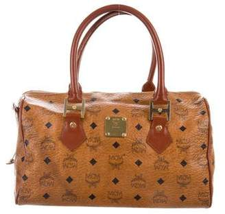 MCM Visetos Boston Bag
