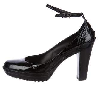 Tod's Patent Leather Platform Pumps