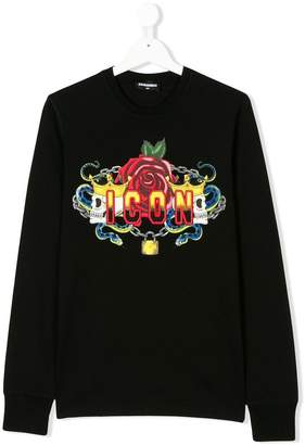DSQUARED2 TEEN Icon print sweatshirt