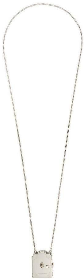 Alexander McQueen book locket necklace