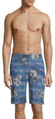 Tommy Bahama Baja House of Plaid Swim Shorts