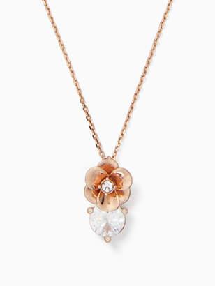 Kate Spade Shine on flower cluster mini pendant
