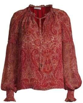 Ramy Brook Luanne Paisley Silk Blouse