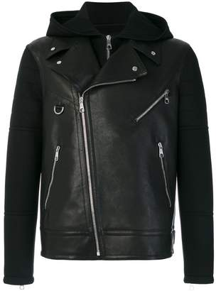 Neil Barrett hooded biker jacket