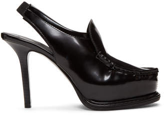 Stella McCartney Black Faux-Leather Heels
