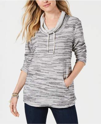 Style&Co. Style & Co Petite Printed Cowl-Neck Sweatshirt