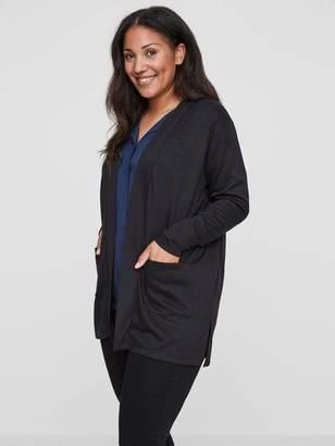Junarose Alma Knit Cardigan Sweater in Black Size Large