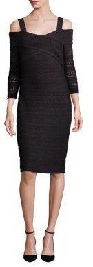 Shoshanna Woven Cold-Shoulder Dress $395 thestylecure.com