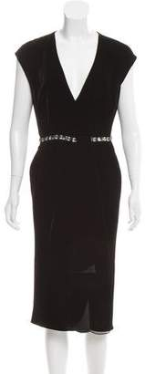 Magaschoni Embellished Velvet Dress