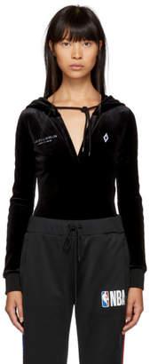 Marcelo Burlon County of Milan Black Hooded Bodysuit