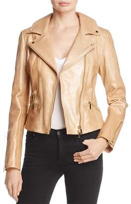 Karen Millen Metallic Gold Leather Jacket - 100% Exclusive