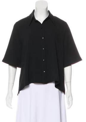 Alexis Short Sleeve Knit Button-Up