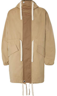 Acne Studios Hooded Cotton-Canvas Parka - Sand