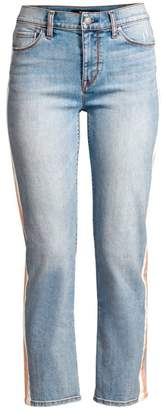 Hudson Jeans Nico Mid-Rise Racing Stripe Jeans