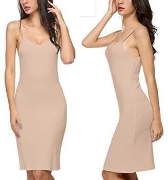 46d0a87411 Corgy Women s Long Spaghetti Strap Full Cami Slip Camisole Under Dress Liner  S-XXL(