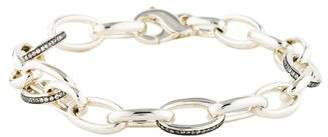 Ippolita Diamond Medium Oval Link Charm Bracelet