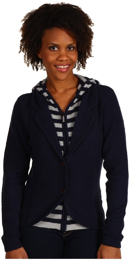 Esprit Sweater Boiled Blazer (True Navy) - Apparel