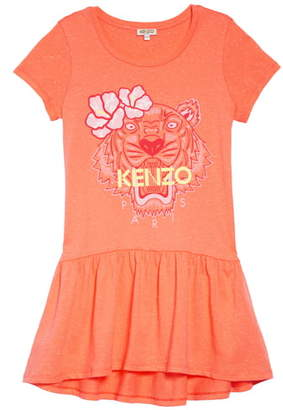 Kenzo Tiger Graphic Drop Waist Dress