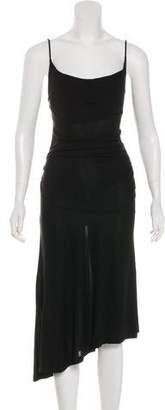 Diane von Furstenberg Asymmetrical Hem Midi Dress