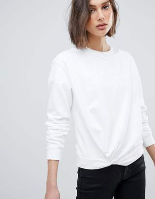 AllSaints Sweatshirt with Knot Front