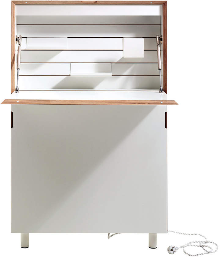 Müller Möbelwerkstätten - Flatmate Wand-Sekretär, Weiß / Birke