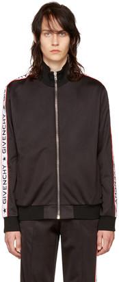 Givenchy Black Logo Sleeves Track Jacket $1,550 thestylecure.com
