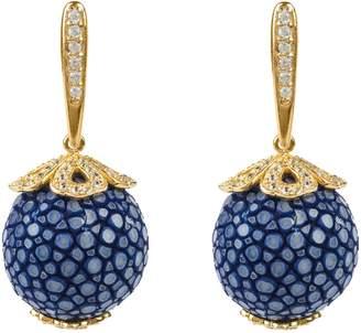 Latelita - Stingray Ball Drop Earring Gold Royal Blue
