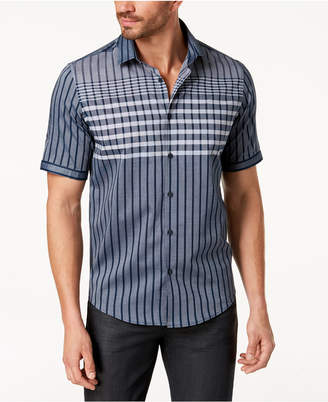 Alfani Men Large Grid-Print Shirt