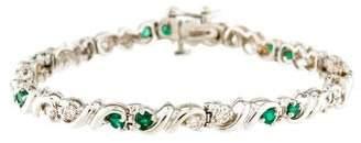 14K Diamond & Emerald Bracelet