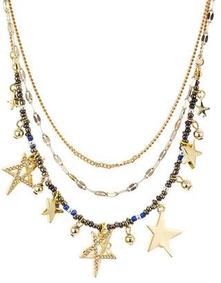 Rebecca Minkoff Multi-Star Layered Necklace, 17""