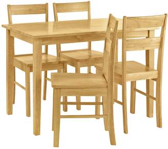 Argos Home Chicago Solid Wood Table & 4 Chairs