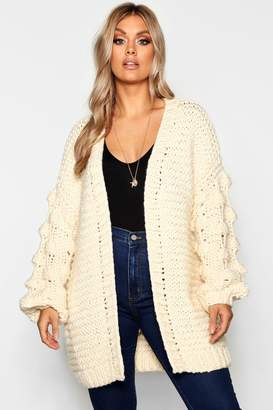 boohoo Plus Oversized Hand Knitted Chunky Cardigan