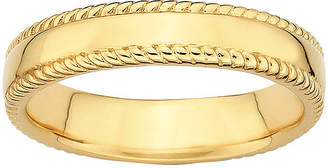JCPenney FINE JEWELRY Personally Stackable 18K Yellow Gold Over Sterling 1.5mm Milgrain Band Ring