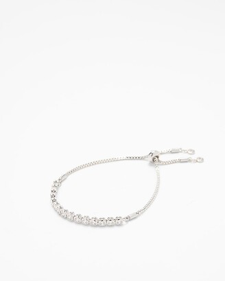 Express Cubic Zirconia Pull Chain Bracelet