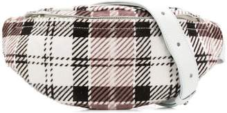 Manokhi faded tartan belt bag