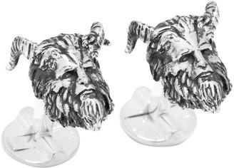 Cufflinks Inc. Cufflinks, Inc. Disney's Beauty and the Beast Silver-Plated 3D Beast Head Cufflinks
