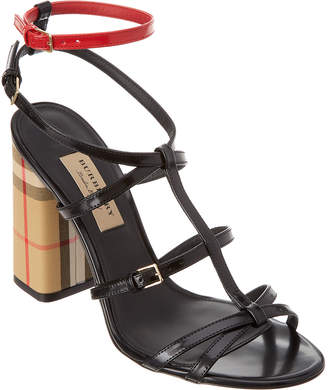 Burberry Vintage Check & Patent Leather Sandal