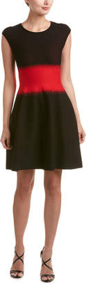 RVN Dots Brocade A-Line Dress