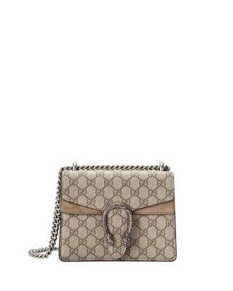 Gucci Mini Dionysus GG Supreme Shoulder Bag, Ebony/Taupe $1,550 thestylecure.com
