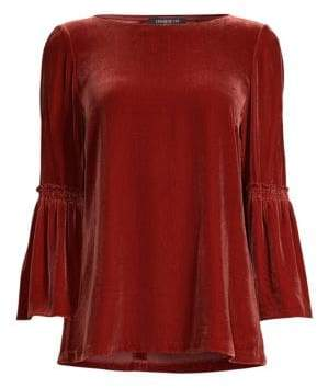 Lafayette 148 New York Roslin Velvet Bell Sleeve Top