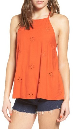 Women's Sun & Shadow Schiffli Embroidered Tank $45 thestylecure.com